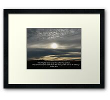 """Psalm 50:1""  by Carter L. Shepard Framed Print"