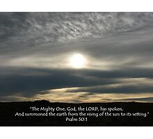 """Psalm 50:1""  by Carter L. Shepard Photographic Print"