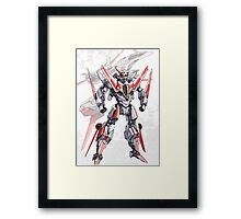 Transforming Jet Mech: The Dragonfly Framed Print