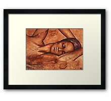 Just lay back, relax, and  .  .   .    .     .  Framed Print
