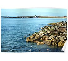 View Towards The Cobb ~ Lyme Regis Poster