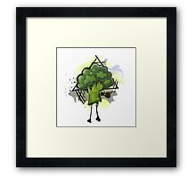Fun with Vegetables: Broccoli Framed Print