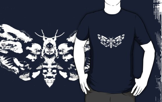 Death's Head Rorschach (inverted) by sciencefluff