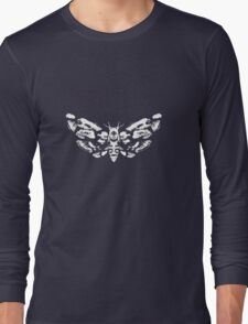 Death's Head Rorschach (inverted) Long Sleeve T-Shirt