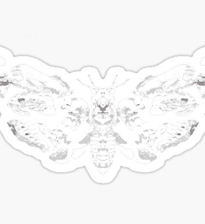 Death's Head Rorschach (inverted) Sticker