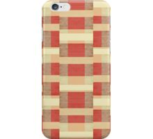 Abstract Red Stripes iPhone Case/Skin