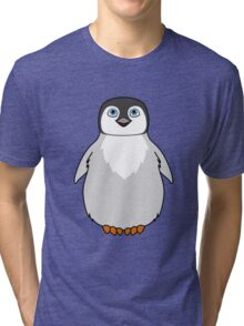 Natural Grey Baby Penguin Tri-blend T-Shirt