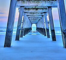 Blue Pier by Sonja Dover