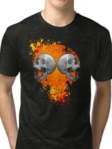 screaming skulls Tri-blend T-Shirt
