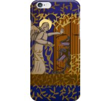 Angel at the Door - Royal Blue Version iPhone Case/Skin