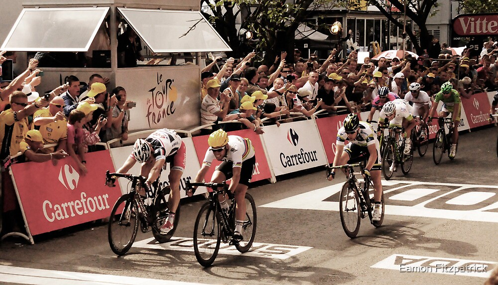 Andre Griepel and Mark Cavendish by Eamon Fitzpatrick