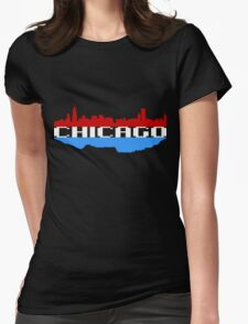 Chicago Above and Below Womens Fitted T-Shirt