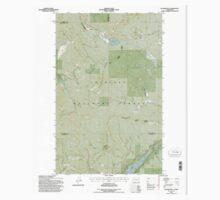 USGS Topo Map Washington State WA Aladdin Mtn 239769 1992 24000 One Piece - Short Sleeve