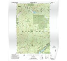 USGS Topo Map Washington State WA Aladdin Mtn 239769 1992 24000 Poster