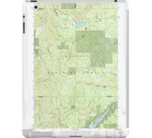 USGS Topo Map Washington State WA Aladdin Mtn 239769 1992 24000 iPad Case/Skin