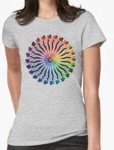 Wrench Color Wheel B Womens Fitted T-Shirt