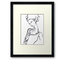Tattooed Elf-Lady Number One Framed Print
