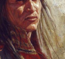 Civilized Warrior, Lakota, Native American Art, James Ayers Studio Sticker