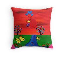 ♥ ♥ ♥ ♥ ♥ Love Flows♥ ♥ ♥ ♥ ♥ Throw Pillow
