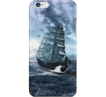 Pirate Ship on the Stormy Sea iPhone Case/Skin