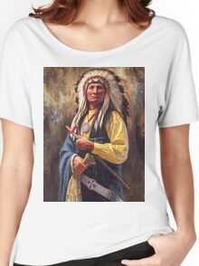 Red Cloud, Native American Art, James Ayers Studios Women's Relaxed Fit T-Shirt