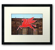 Route 66 - Mobil Pegasus Framed Print