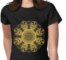 gold pattern mandala Womens Fitted T-Shirt