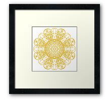 gold pattern mandala Framed Print