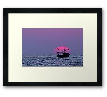 Sunset Over Arabian Sea Framed Print