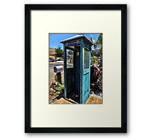 Superman was here Framed Print