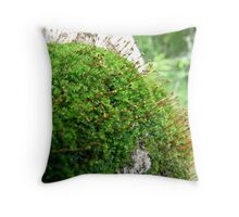Moss Patch  Throw Pillow