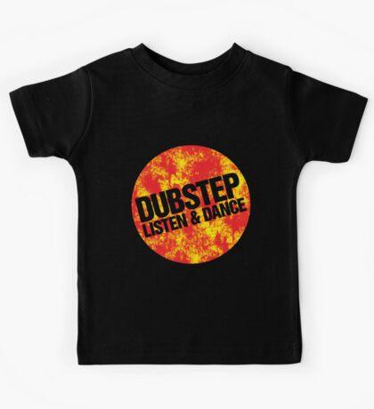 Dubstep Listen & Dance (lava) Kids Tee