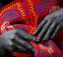 Hand dyed - Sapa - Vietnam by Malcolm Heberle