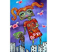 Robot Girl - When Pigs Fly Photographic Print