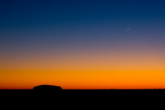 Two Rocks, Uluru, Northern Territory Australia by Amber  Williams