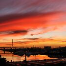 Docklands Sunset by Robyn Lakeman