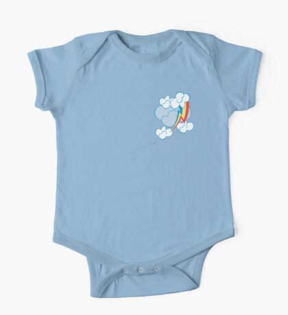 Rainbow Dash among the clouds One Piece - Short Sleeve