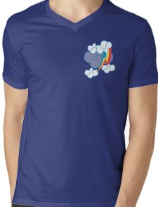 Rainbow Dash among the clouds Mens V-Neck T-Shirt