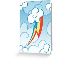 Rainbow Dash among the clouds Greeting Card