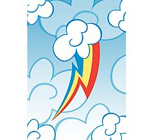 Rainbow Dash among the clouds Photographic Print