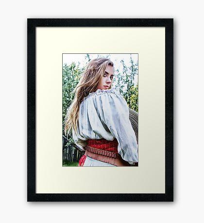 Seniorita De Zorro Framed Print