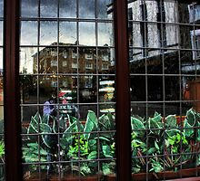 Reflections in Old Glass by Barbara  Brown