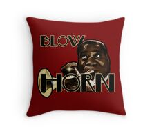 Trumpet - Blow Horn with Bubbles Throw Pillow