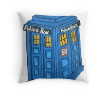 Eternal Tardis Throw Pillow