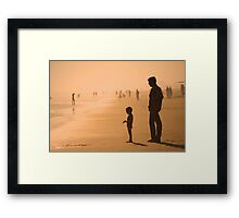 Sundown by the Bay of Bengal Framed Print
