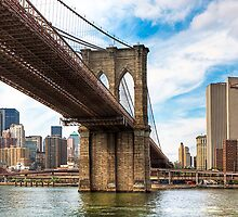 Brooklyn Bridge & The Manhattan Skyline by Mark Tisdale