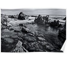 Black and White Rocks Poster