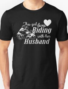 THIS GIRL LOVES RIDING WITH HER HUSBAND Unisex T-Shirt