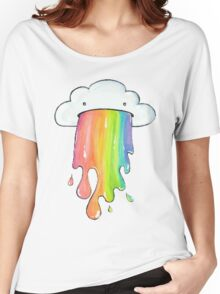 cute rainbow cloud  Women's Relaxed Fit T-Shirt