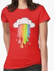 cute rainbow cloud  Womens Fitted T-Shirt